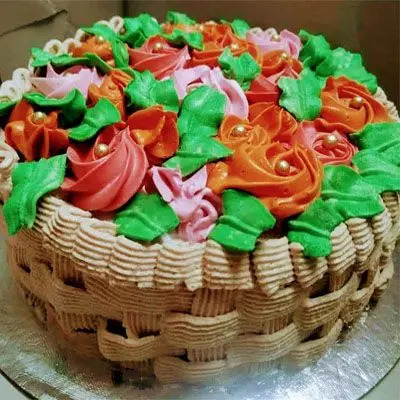 Strawberry Basket Theme Cake