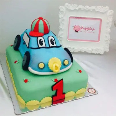 First Birthday Car Cake