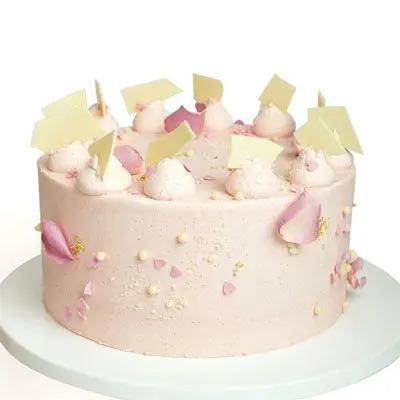 Pink Heart Sprinkle Cake