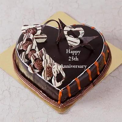 25th Anniversary Truffle Cake