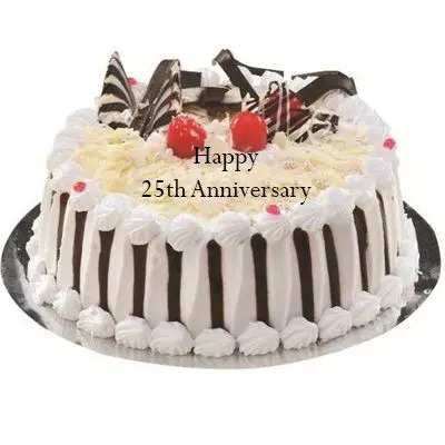 25th Anniversary White Forest Cake