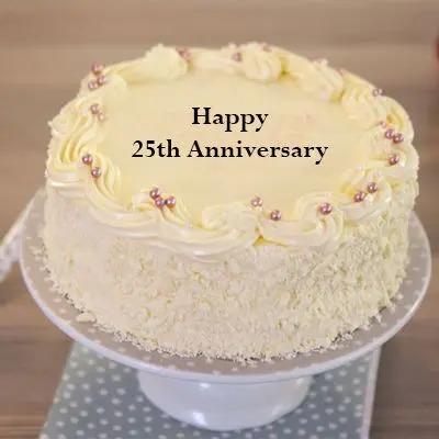 Special 25th Anniversary Vanilla Cake