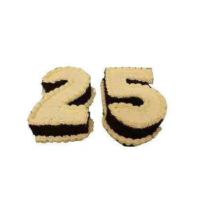 25 Number Butterscotch Cake