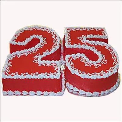 Silver Jubilee Strawberry Cake