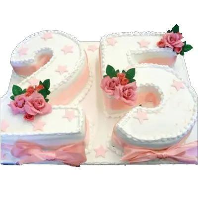 25 Number Vanilla Cake