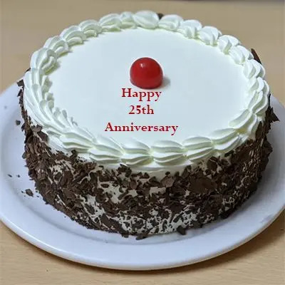 25th Anniversary Classic Black Forest Cake