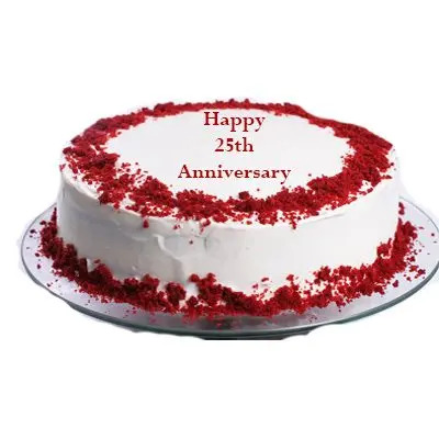 25th Anniversary Red Velvet Cake