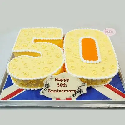 50 Number Butterscotch Cake