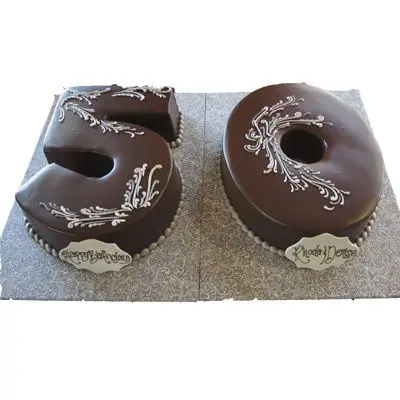 50 Number Chocolate Cake