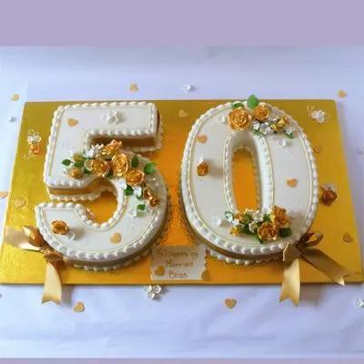 50 Number Special Vanilla Cake