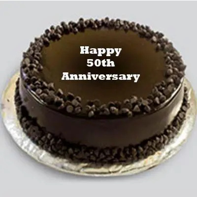 50th Anniversary Choco Chip Cake