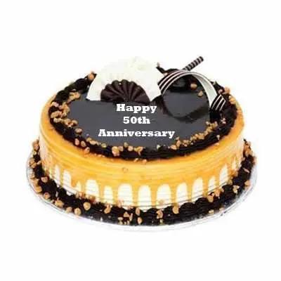 50th Anniversary Chocolate Butterscotch Cake