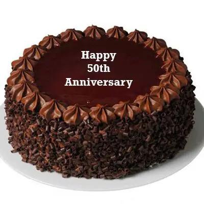 Golden Jubilee Chocolate Cake