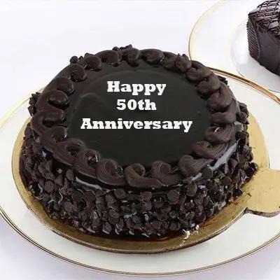 50th Anniversary Chocolate Truffle Cake