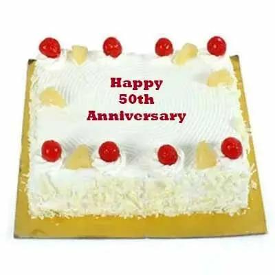 50th Anniversary Delicious Pineapple Cake