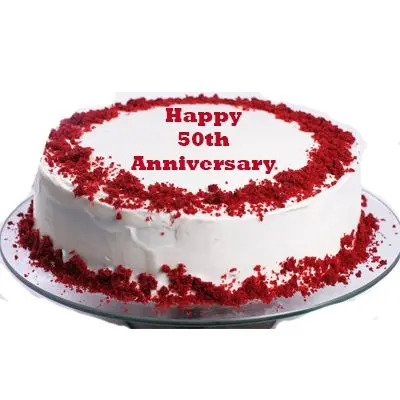 50th Anniversary Red Velvet Cake
