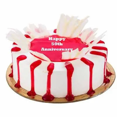 50th Anniversary Special Strawberry Cake