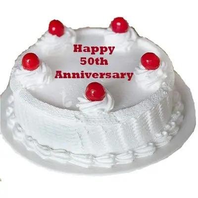 50th Anniversary Vanilla Cake