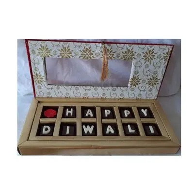 Happy Diwali Chocolate Gift Box Filled With Nuts