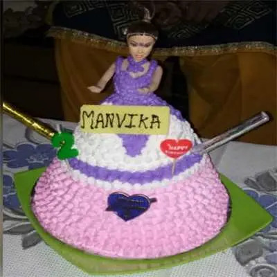 Doll Birthday Cake