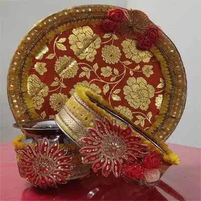Karwa Chauth Puja Thali Set