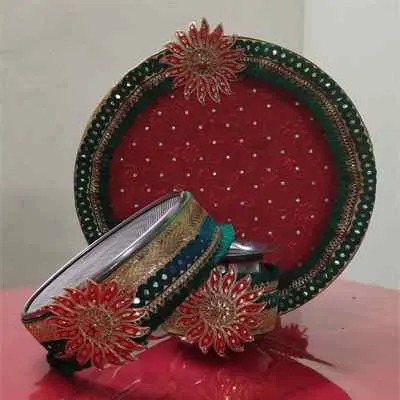 Beautiful Karwa Chauth Thali Set