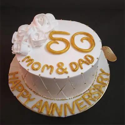 50 Wedding Anniversary Cake