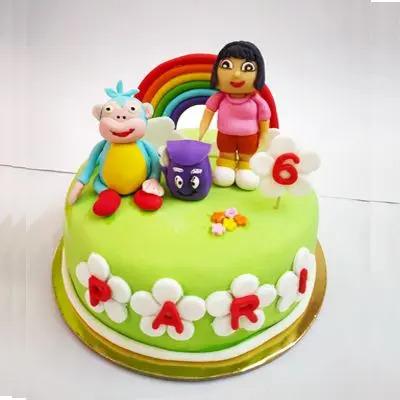 Fondant Round Themed Cake