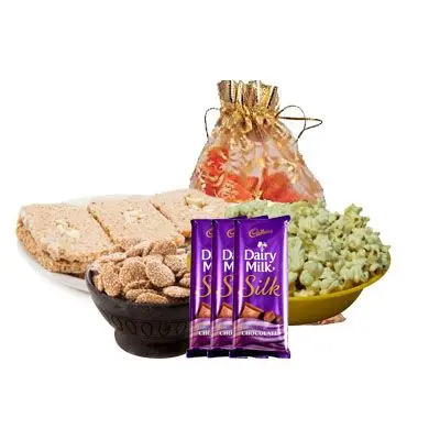 Lohri Special Gift Hamper with Silk