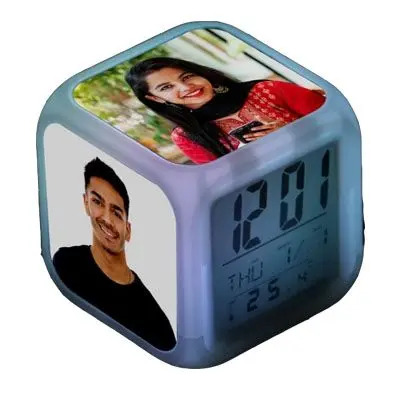 Personalized LED Cube Digital Alarm Clock