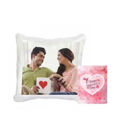 Valentines Personalized Cushion with Card