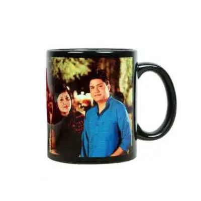 Valentine Black Photo Mug