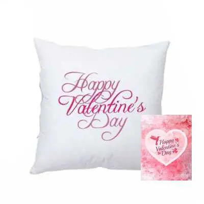 Valentine Day Cushion with Card