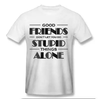 Good Friends Printed T Shirt