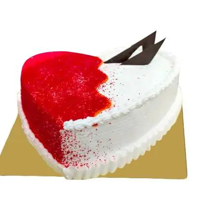 Designer Heart Shape Red Velvet Pineapple Cake