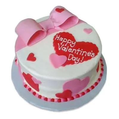 Happy Valentine Butterscotch Cake