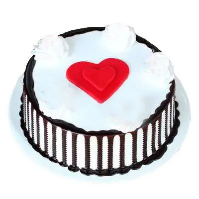 Valentine Black Forest Cake with Heart