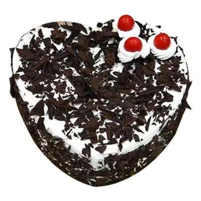 Beloved Heart Shape Black Forest Cake