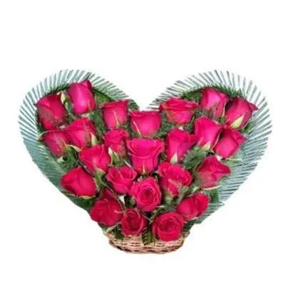 Ravishing Red Roses Heart Shaped Bouquet