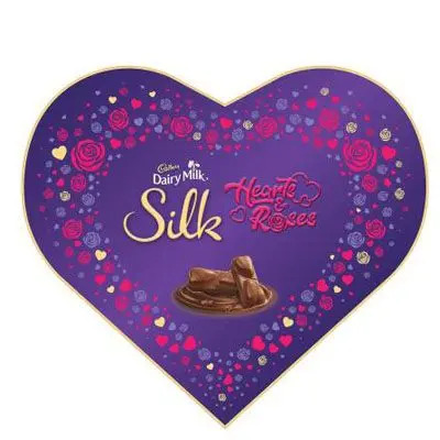 Cadbury Dairy Milk Silk Valentines Heart Shaped Gift Box