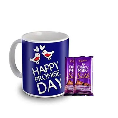 Happy Promise Day Sky Trends Mug with Silk