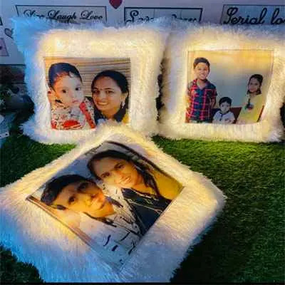 Personalised Led Cushion Square
