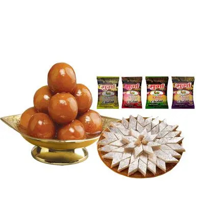 Holi Colour & Sweets Combo