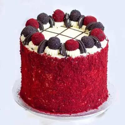 Four Layer Red Velvet Oreo Cake