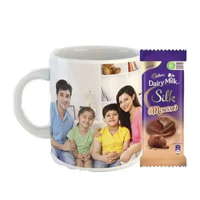 Photo Mug with Cadbury Dairy Milk Silk Mousse