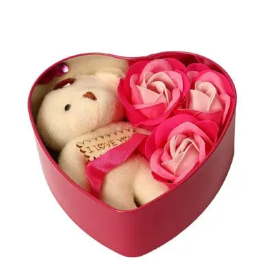 Pink Teddy Roses in Box