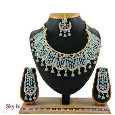Sky Blue Diva Beautiful Jewellery Sets