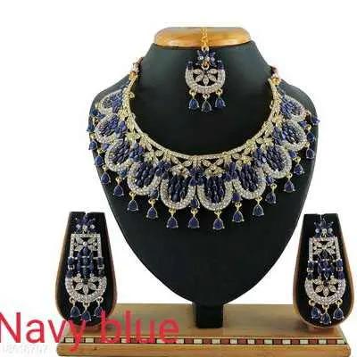 Navy Blue Diva Beautiful Jewellery Sets