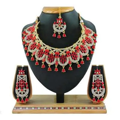 Red Diva Beautiful Jewellery Sets