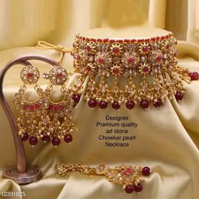 Maroon Elite Colorful Jewellery Sets